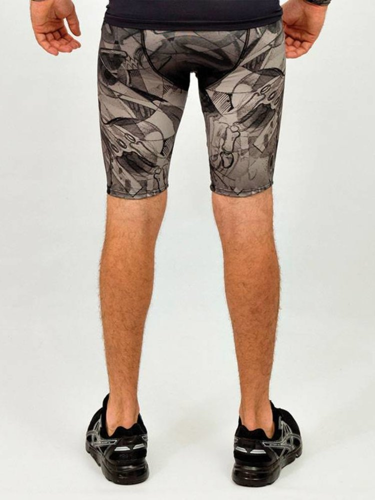 GraffitiBeasts Mr. Wany - Heren Running Short met graffiti design