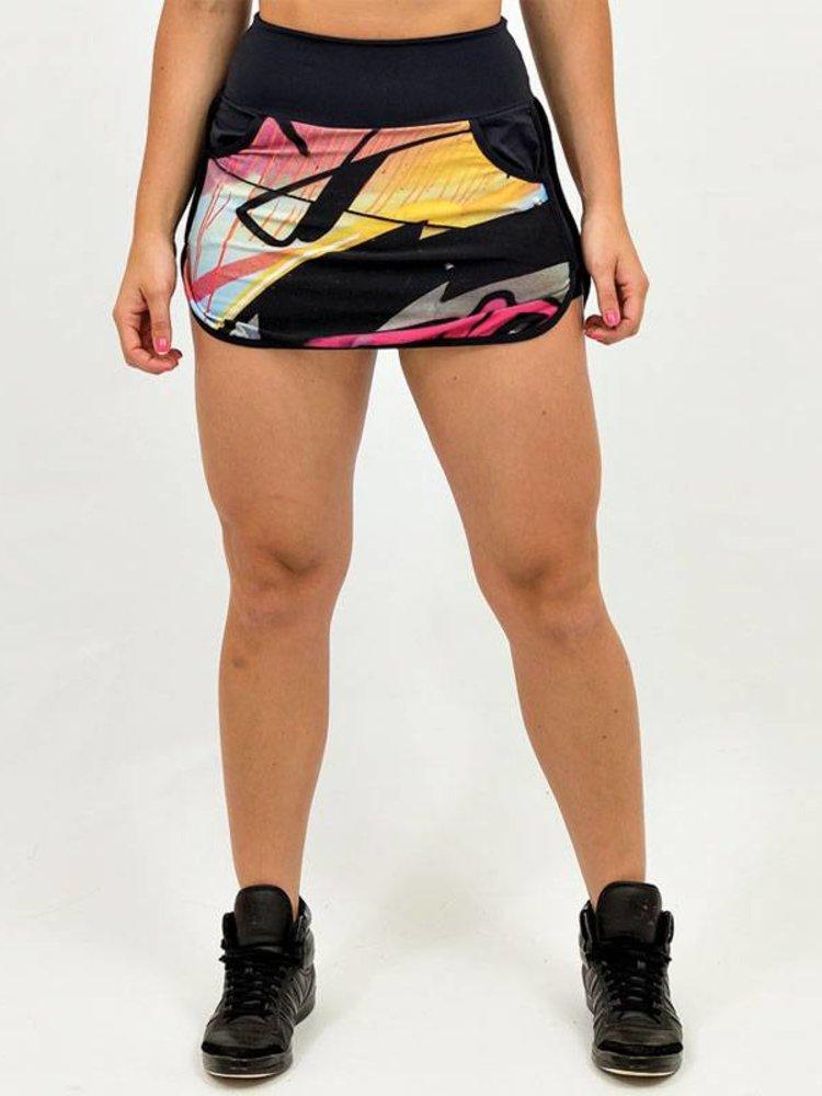 GraffitiBeasts Trun - Sportlicher Rock mit Innenhose. Die Graffitidrucke sind Kunstwerke auf der ganzen Welt.