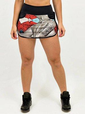 GraffitiBeasts Dames sportrokje met pockets en binnenbroek voor tijdens jouw workout