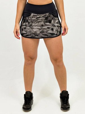 GraffitiBeasts Mr Wany - Sporty Skirt with inner pants. The graffiti prints are works of art somewhere in the world.