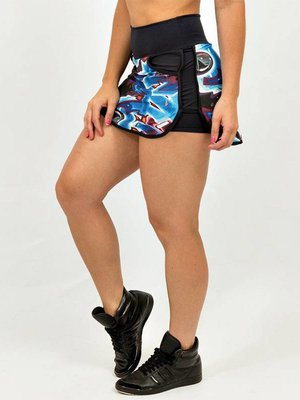 GraffitiBeasts Katre - Sporty Skirt with inner pants. The graffiti prints are works of art somewhere in the world.