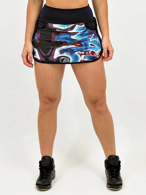 GraffitiBeasts Sporty Skirt with inner pants. The graffiti prints are works of art somewhere in the world.