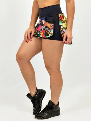 GraffitiBeasts Does - Skirt with handy pockets and innershort