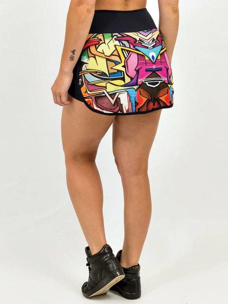 GraffitiBeasts Does - Dames skirt met diverse  pockets en binnenbroek voor tijdens het sporten.