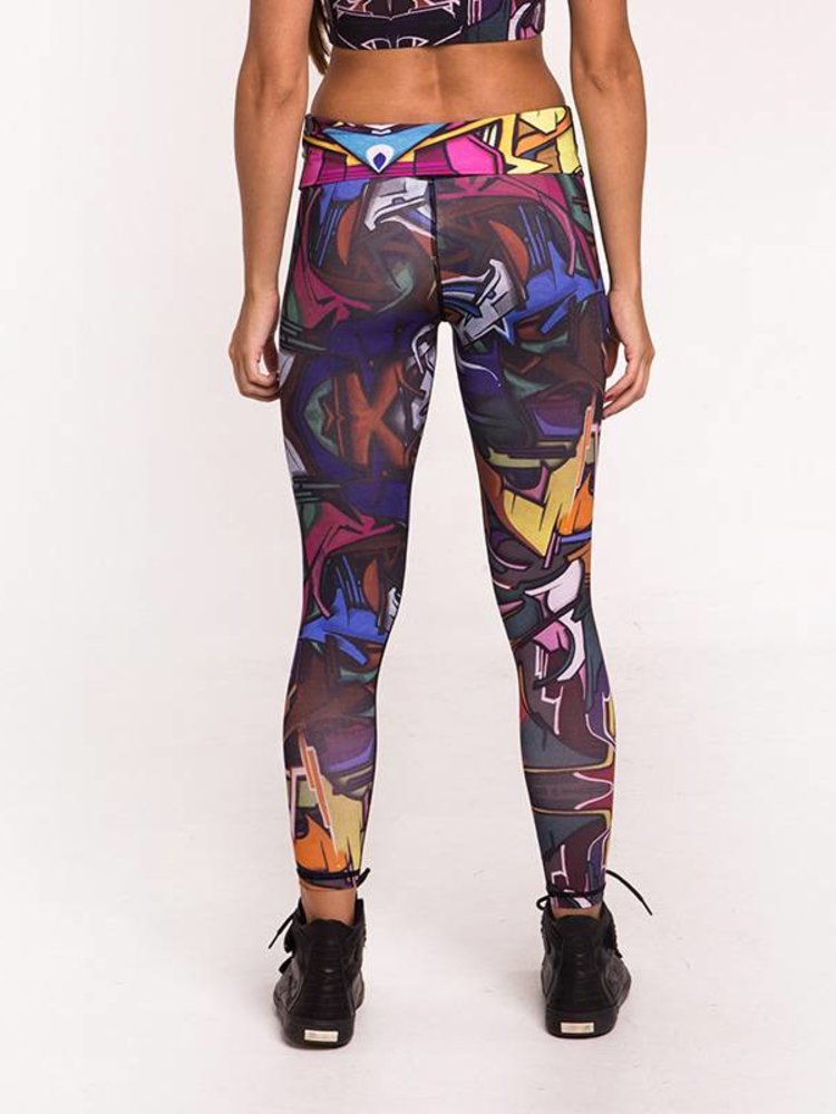 GraffitiBeasts Ladies' Sportlegging in the Classic version with graffiti print by Does