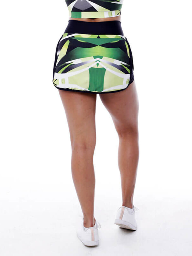 GraffitiBeasts Zurik - Sporty Skirt with inner pants. The graffiti prints are works of art somewhere in the world.