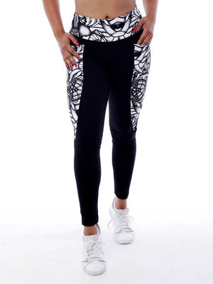 GraffitiBeasts Aura - Dames inverse sportlegging met graffiti design