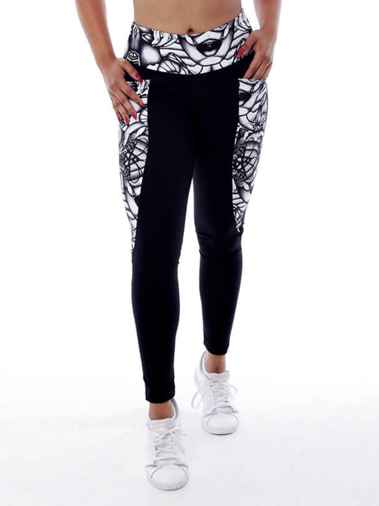 GraffitiBeasts Aura - Damen Inverse Sportlegging mit Graffiti Design