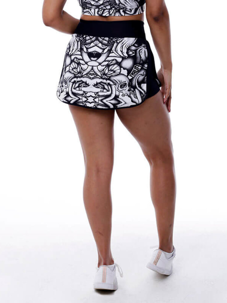 GraffitiBeasts Aura - Sporty Skirt with inner pants. The graffiti prints are works of art somewhere in the world.
