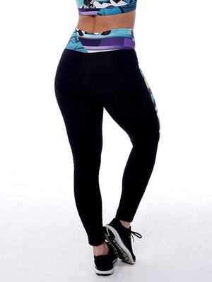 GraffitiBeasts Edis One  - Damen Inverse Sportlegging mit Graffiti Design