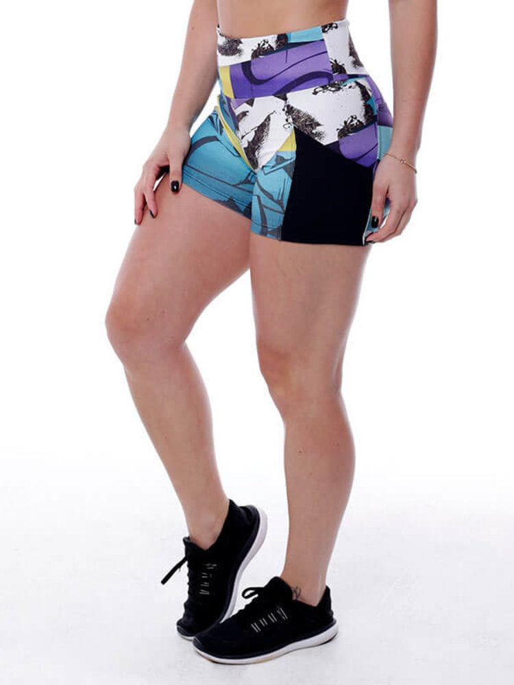 GraffitiBeasts Edis One - Ladies shorts with striking Graffiti-print and handy pockets