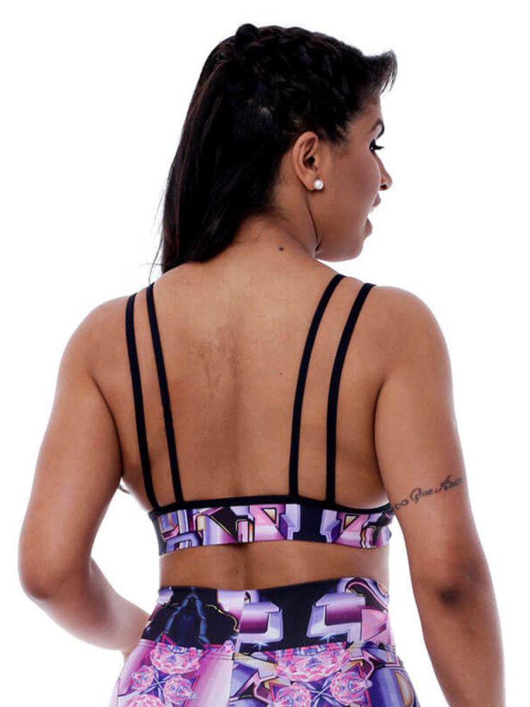 GraffitiBeasts Pariz One- TOP WITH BEAUTIFUL DETAIL AT THE BACK. THE GRAFFITIPRINTS ARE ARTWORKS ON THE WORLD.