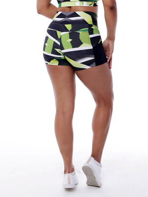 GraffitiBeasts Zurik - Ladies shorts with striking Graffiti-print and handy pockets