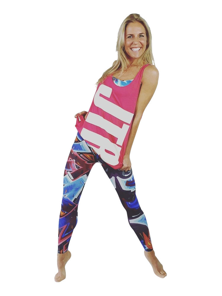 GraffitiBeasts Ladies Sports Leggings in the Classic version with a Katre print
