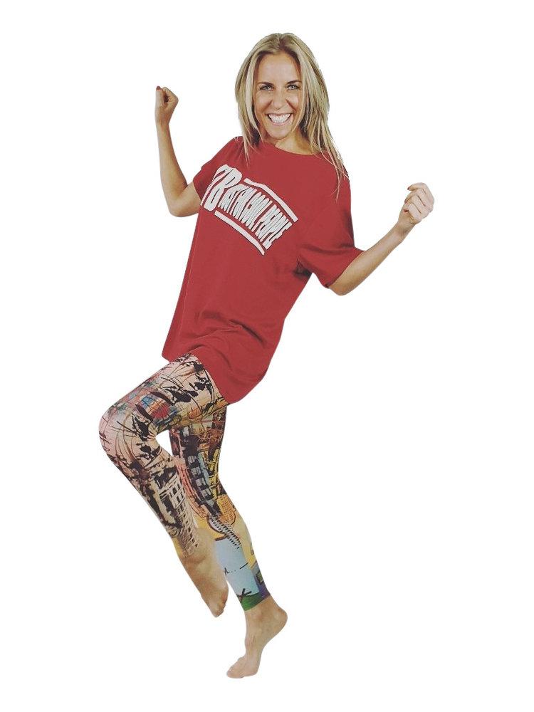 GraffitiBeasts Ski - Damensportlegging in der Classic-Version mit Graffiti-Print
