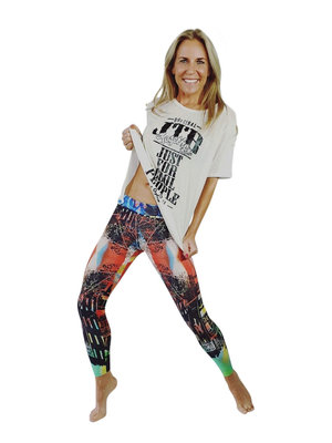 GraffitiBeasts 2ESAE - Damensportlegging in der Classic-Version mit Graffiti-Print