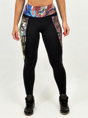 GraffitiBeasts 2ESAE - Damensport-Set bestehend aus Leggings + Top mit Design
