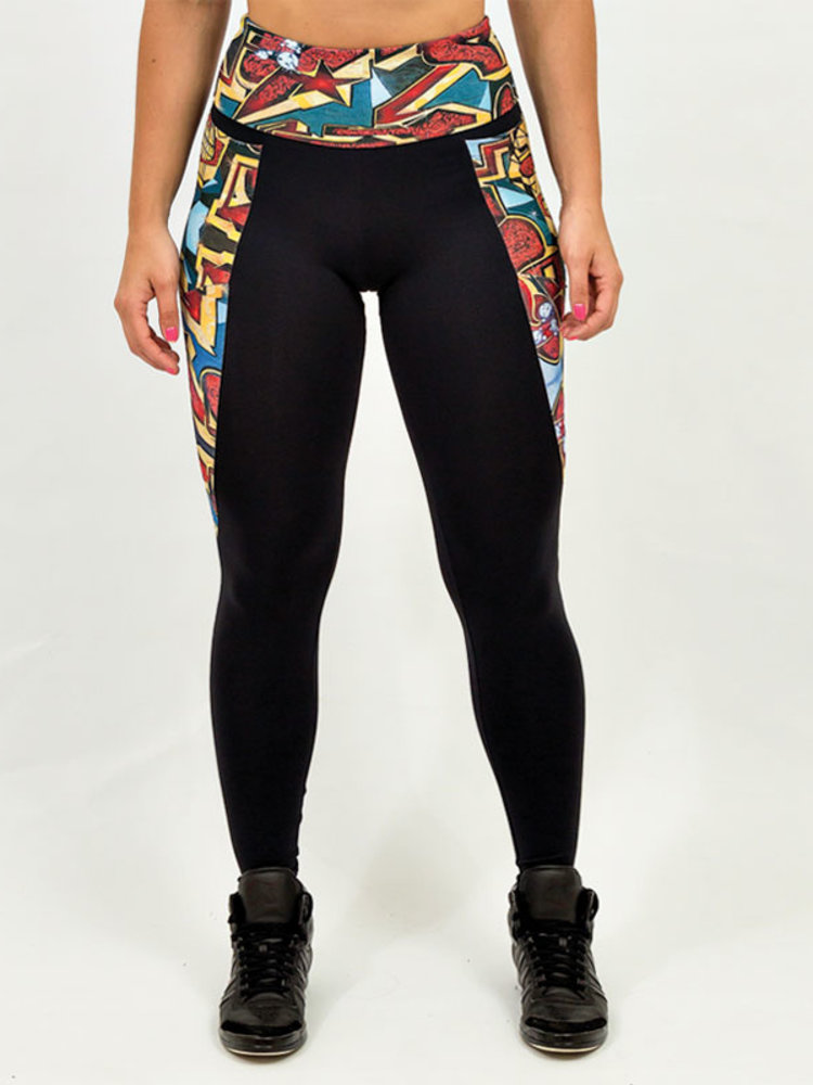 GraffitiBeasts Pariz One - Damensport-Set bestehend aus Leggings + Top mit Design