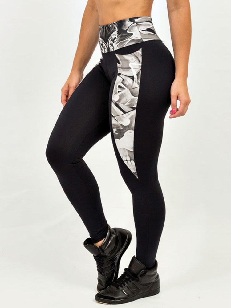 GraffitiBeasts Cost Two - Damensport-Set bestehend aus Leggings + Top mit Design