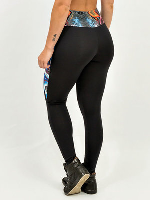 GraffitiBeasts Katre - Damensport-Set bestehend aus Leggings + Top mit Design