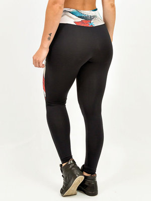 GraffitiBeasts Mr. Dheo - Ladies sport set consisting of leggings + top with design