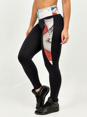 GraffitiBeasts Mr. Dheo - Dames sport set bestaande uit legging + top met ontwerp