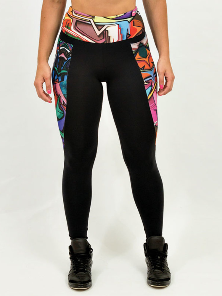 GraffitiBeasts Does - Ladies sport set consisting of leggings + top with design