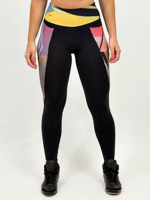 GraffitiBeasts Trun - Damensport-Set bestehend aus Leggings + Top mit Design
