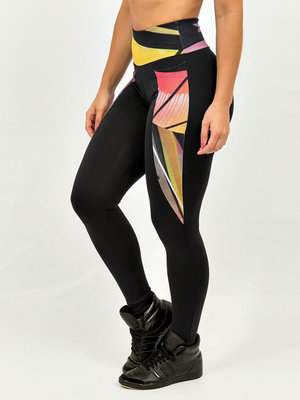 GraffitiBeasts Trun - Ladies sport set consisting of leggings + top with design