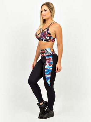 GraffitiBeasts Katre - Dames sport set bestaande uit legging + top met ontwerp
