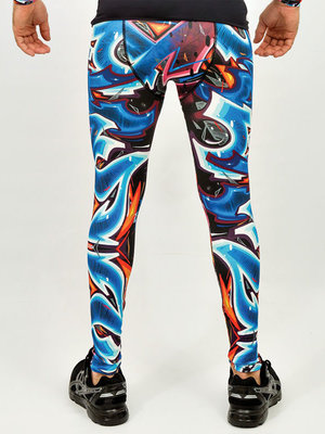 GraffitiBeasts Katre - Heren sportlegging met graffiti design