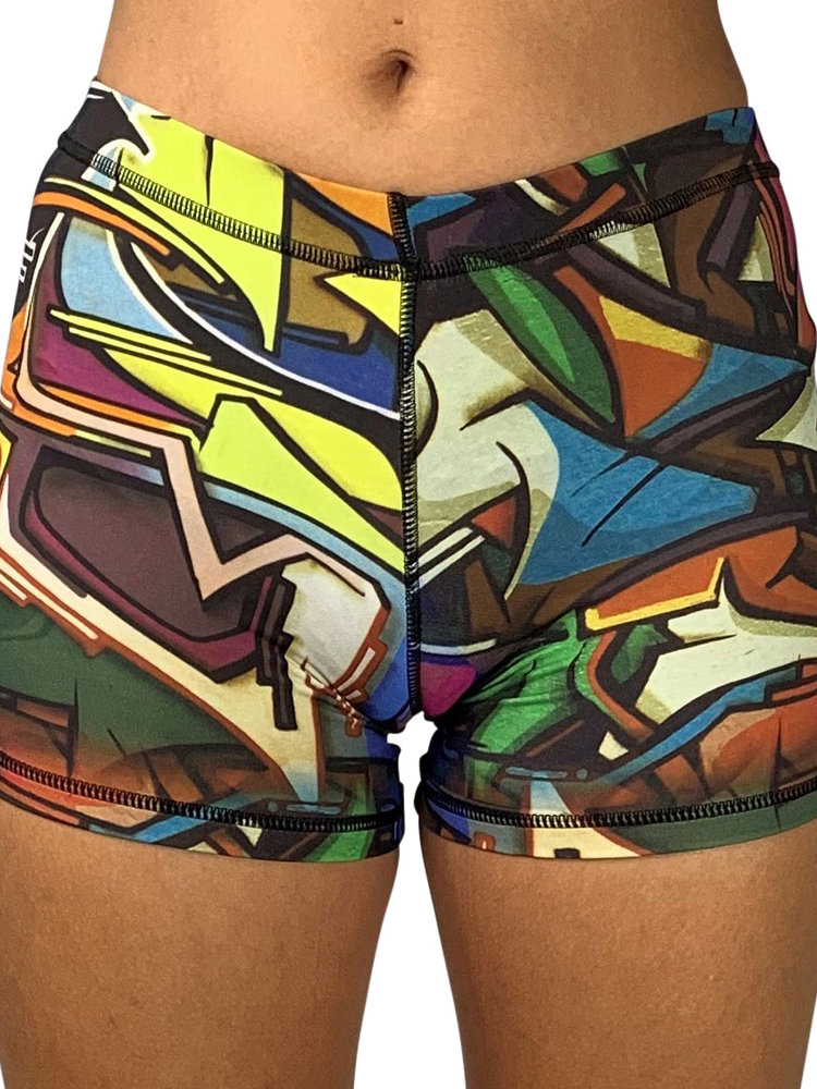 GraffitiBeasts Does - Poledance Ladies shorts with striking Graffiti-print