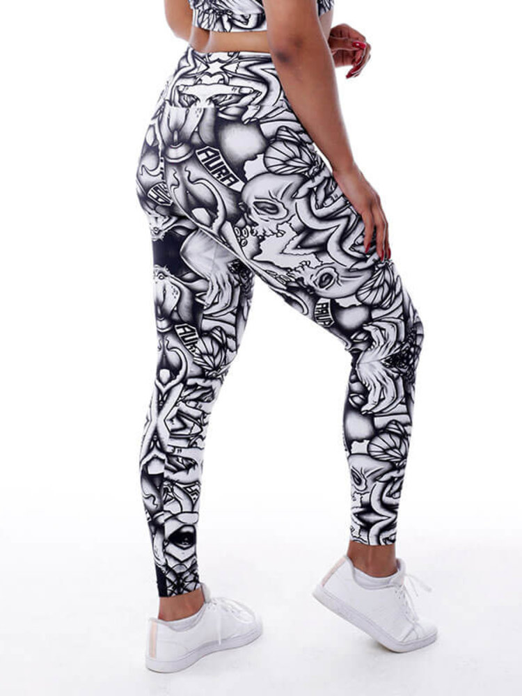 GraffitiBeasts Aura - Women StreetArt sportlegging