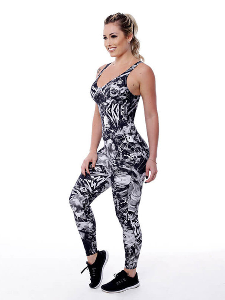 GraffitiBeasts Coly -  Damen Sport Jumpsuit