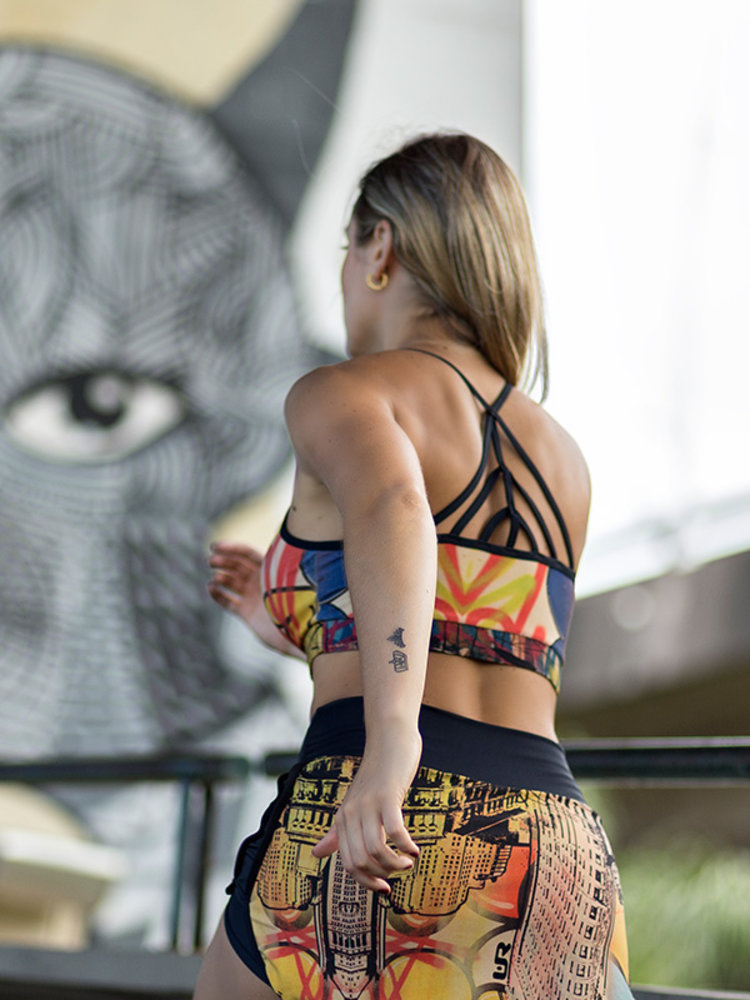 GraffitiBeasts Ski - Top met graffitiprint in model Leopard