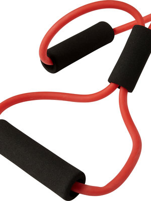 SportsAndMore Elastic fitness training strap with black foam handles (10 cm).