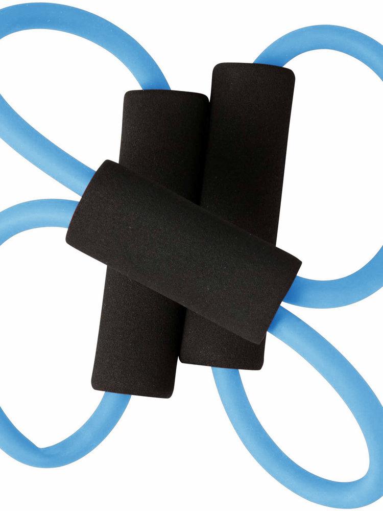 SportsAndMore Fitnessband, zweifarbig, elastisch mit schwarzen Schaumstoffgriffen