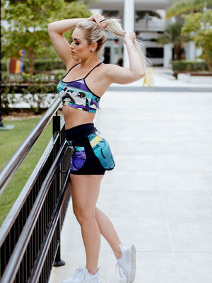 GraffitiBeasts Edis One - Sporty Skirt with inner pants. The graffiti prints are works of art somewhere in the world.