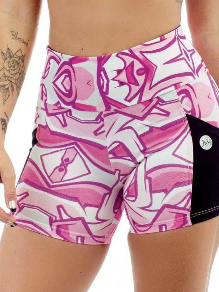 GraffitiBeasts JM - Ladies shorts with striking Graffiti-print and handy pockets