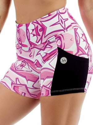 GraffitiBeasts JM - Ladies shorts with striking Graffiti-print and handy pockets