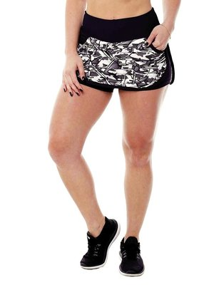 GraffitiBeasts Fire4L - Sporty Skirt with inner pants. The graffiti prints are works of art somewhere in the world.