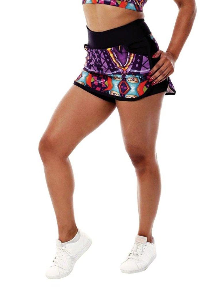GraffitiBeasts Theydrift - Sport Skirt Dames met binnenbroek en pockets om heerlijk in te sporten.