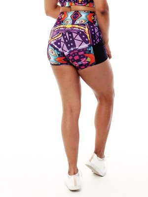 GraffitiBeasts Theydrift - Ladies shorts with striking Graffiti-print and handy pockets