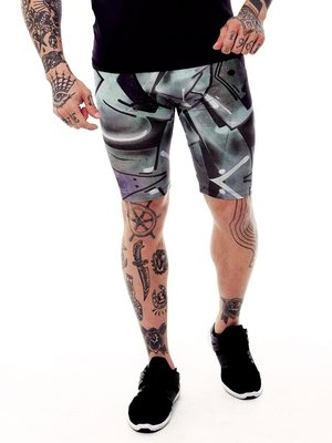GraffitiBeasts Trun - Heren Running Short met graffiti design