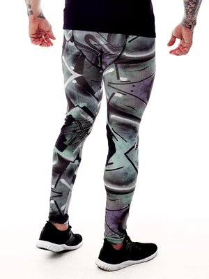 GraffitiBeasts Trun - Men's sports leggings with graffiti design