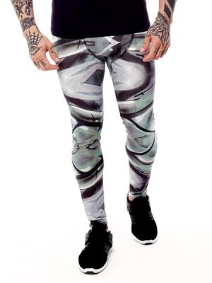 GraffitiBeasts Trun - Heren sportlegging met graffiti design