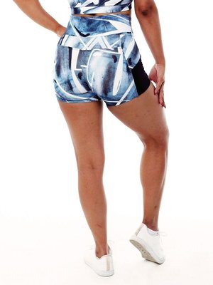 GraffitiBeasts Trun - Ladies shorts with striking Graffiti-print and handy pockets