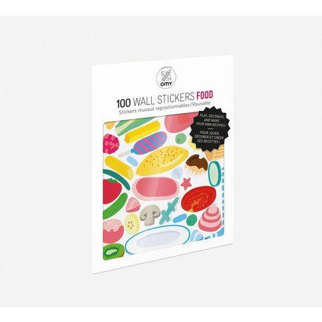 100 wall stickers food