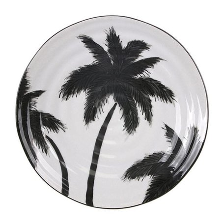 jungle serving plates palms