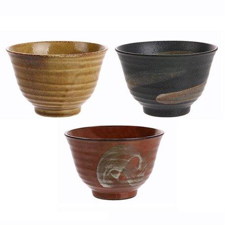 janpanese matcha bowls set van 3